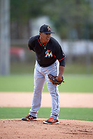 Miami Marlins Nefi Ogando (99) during a minor league Spring Training intrasquad game on March 31, 2016 at Roger Dean Sports Complex in Jupiter, Florida.  (Mike Janes/Four Seam Images)