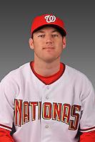 14 March 2008: ..Portrait of Jack Spradlin, Washington Nationals Minor League player at Spring Training Camp 2008..Mandatory Photo Credit: Ed Wolfstein Photo