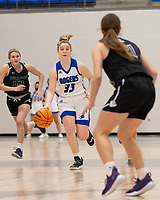 Taylor Treadwell (33) of Rogers bring the ball up the court at King Arena, Rogers, AR January 8, 2021 / Special to NWA Democrat-Gazette/ David Beach