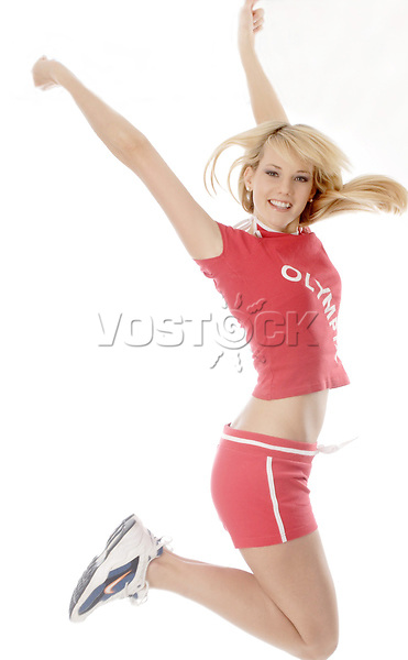 young woman jumping - 01.01.2007  Model-release-yes!  *** Local Caption *** 01013809