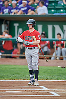 Cash Case (9) of the Billings Mustangs bats against the Ogden Raptors at Lindquist Field on August 17, 2018 in Ogden, Utah. Billings defeated Ogden 6-3. (Stephen Smith/Four Seam Images)