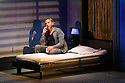 Ex Machina/Robert Lepage presents NEEDLES AND OPIUM, written and directed by Robert Lepage, at the Barbican Theatre. Jean Cocteau and the unnamed actor are played by Marc Labreche, with Miles Davis being played by Wellesley Robertson III. Picture shows: Marc Labreche (unnamed actor).