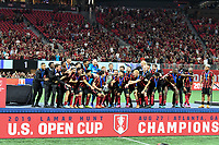 ATLANTA, Georgia - August 27: Atlanta United celebrate during the 2019 U.S. Open Cup Final between Atlanta United and Minnesota United at Mercedes-Benz Stadium on August 27, 2019 in Atlanta, Georgia.