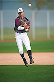 Joab Gonzalez (2) of Puerto Rico HS & BB Acad High School in Arecibo, Puerto Rico during the Under Armour All-American Pre-Season Tournament presented by Baseball Factory on January 14, 2017 at Sloan Park in Mesa, Arizona.  (Mike Janes/Mike Janes Photography)