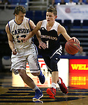 Coronado's Terey Hurlburt drives past Carson defender Asa Carter during the NIAA Division I state basketball tournament in Reno, Nev. on Thursday, Feb. 25, 2016. Coronado won 53-43. Cathleen Allison/Las Vegas Review-Journal