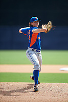 Pitcher Ryan Rolison (22) of University School of Jackson in Jackson, Tennessee playing for the New York Mets scout team during the East Coast Pro Showcase on July 28, 2015 at George M. Steinbrenner Field in Tampa, Florida.  (Mike Janes/Four Seam Images)