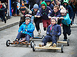 Go-Cart racing up the street at the St Patrick's Day parade in Killaloe. Photograph by John Kelly.