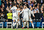 Alvaro Morata (c) of Real Madrid celebrates during the La Liga match between Real Madrid and RC Deportivo La Coruna at the Santiago Bernabeu Stadium on 10 December 2016 in Madrid, Spain. Photo by Diego Gonzalez Souto / Power Sport Images