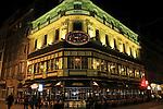 Drug Opera building at night in Brussels, Belgium