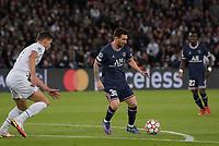 28th September 2021, Parc des Princes, Paris, France: Champions league football, Paris-Saint-Germain versus Manchester City:  Lionel Leo Messi ( 30 - PSG ) and Ruben Dias ( 3 - Manchester City )