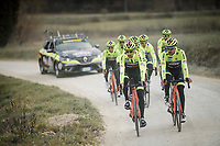 Team Neri Sottoli - Selle Italia - KTM (ITA/PCT)<br /> <br /> race reconnaissance 1 day prior to the 13th Strade Bianche 2019 (1.UWT)<br /> One day race from Siena to Siena (184km)<br /> <br /> ©kramon