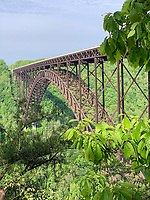 West Virginia, New River Gorge Bridge from the National Park Visitor Center.