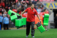 Andy Farrell, Saracens First Team Coach, during the Aviva Premiership match between Saracens and Harlequins at Wembley Stadium on Saturday 31st March 2012 (Photo by Rob Munro)