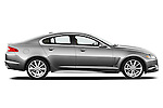 Passenger side profile view of a 2012 Jaguar XF Portfolio