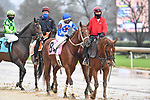 February 27, 2021: #8 Best Kept Secret in the post parade for the Spring Fever Stakes at Oaklawn Park in Hot Springs, Arkansas. Ted McClenning/Eclipse Sportswire/CSM