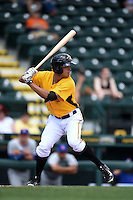 Bradenton Marauders outfielder Justin Maffei (26) at bat during a game against the St. Lucie Mets on April 12, 2015 at McKechnie Field in Bradenton, Florida.  Bradenton defeated St. Lucie 7-5.  (Mike Janes/Four Seam Images)