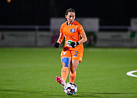Rkia Mazrouai (2) of AA Gent pictured during a female soccer game between  Racing Genk Ladies and AA Gent Ladies on the eleventh matchday of the 2020 - 2021 season of Belgian Scooore Womens Super League , friday 22 th of January 2021  in Genk , Belgium . PHOTO SPORTPIX.BE | SPP | DAVID CATRY