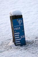 Peilschaal, SBB Strijbeek, winter