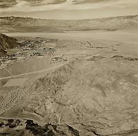 historical aerial photograph Palm Springs, California 1956