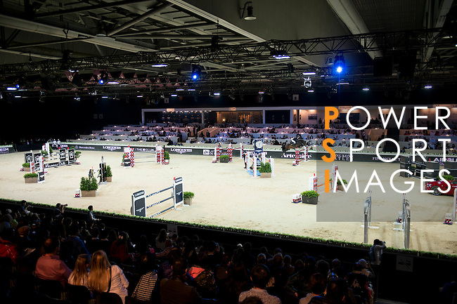 Marco Kutscher on Van Gogh competes during the Table A with Jump-off 145 - Airbus Trophy at the Longines Masters of Hong Kong on 20 February 2016 at the Asia World Expo in Hong Kong, China. Photo by Li Man Yuen / Power Sport Images