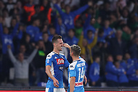 Arkadiusz Milik of Napoli celebrates with Dries Mertens of Napoli<br /> Napoli 30-10-2019 Stadio San Paolo <br /> Football Serie A 2019/2020 <br /> SSC Napoli - Atalanta BC<br /> Photo Cesare Purini / Insidefoto
