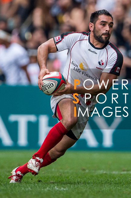 Wales vs Canada on Plate Semi Final during the Cathay Pacific / HSBC Hong Kong Sevens at the Hong Kong Stadium on 30 March 2014 in Hong Kong, China. Photo by Xaume Olleros / Power Sport Images