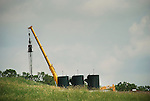 Drilling site with tanks and crane, Chief Oil and Gas, Lycoming County, Pennsylvania...........................................