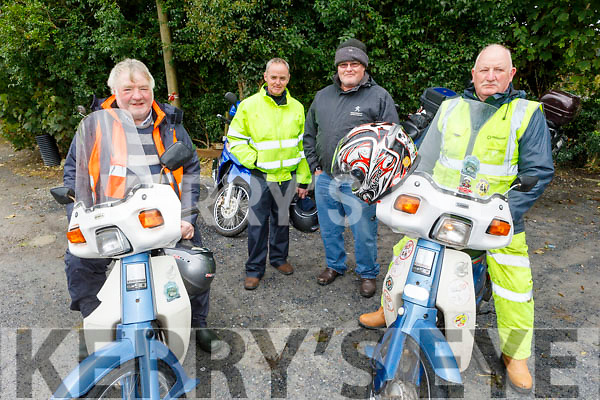Redmond Foley, Diarmuid and David Kearney (Currow) and Thomas Fennell attending the Honda 50 Run for the Kerry Hospice in Boolteens on Sunday.