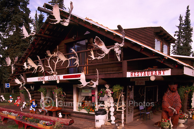 Restaurant at Tatogga Lake, Northern BC, British Columbia, Canada - along Cassiar Highway 37