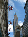 Empire State Building in New York City. (Editorial use only)