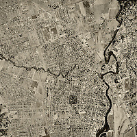 historical aerial photograph of Napa, California, 1958