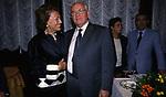 IRENE GALITZINE CON MIKHAIL GORBACIOV <br /> COCKTAIL PARTY IN ONORE DI GORBACIOV - HOTEL BAGLIONI ROMA 11-2000