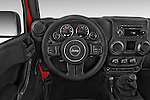 Car pictures of steering wheel view of a 2015 JEEP Wrangler Unlimited Sport 5 Door Sport Utility Vehicle Steering Wheel