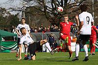 Julian Chabot (Deutschland, RB Leipzig) gegen Dominik Dinga (Serbien) - 25.03.2017: U19 Deutschland vs. Serbien, Sportpark Kelsterbach