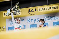 white jersey // Tadej Pogacar (SVN/UAE-Emirates)<br /> <br /> Stage 4 from Redon to Fougéres (150.4km)<br /> 108th Tour de France 2021 (2.UWT)<br /> <br /> ©kramon