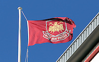 Pictured: A West Ham United flag. 01 February 2014<br />