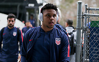Cary, N.C. - Tuesday March 27, 2018: Weston McKennie during an International friendly game between the men's national teams of the United States (USA) and Paraguay (PAR) at Sahlen's Stadium at WakeMed Soccer Park.