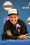 July 30, 2019: Bethanie Mattek-Sands (USA) addresses the media after she defeated Venus Williams (USA) 6-7, 6-3, 6-1 in the first round of the Mubadala Silicon Valley Classic at San Jose State in San Jose, California. ©Mal Taam/TennisClix/CSM