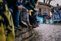 up the Kapelmuur /Muur van Geraardsbergen<br /> <br /> 102nd Ronde van Vlaanderen 2018 (1.UWT)<br /> Antwerpen - Oudenaarde (BEL): 265km
