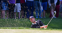 Pep Guardiola (Manchester City Manager) hits a shot out of bunker during the BMW PGA PRO-AM GOLF at Wentworth Drive, Virginia Water, England on 23 May 2018. Photo by Andy Rowland.