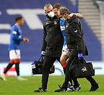 26.12.2020 Rangers v Hibs: Scott Arfield carried off injured