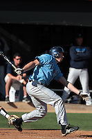 Kevin Stenhouse #28 of the Rhode Island Rams bats against the Cal State Northridge Matadors at Matador Field on March 14, 2012 in Northridge,California. Rhode Island defeated Cal State Northridge 10-8.(Larry Goren/Four Seam Images)