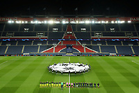 General view as the teams line up before the match   <br /> Photo Pool/Panoramic/Insidefoto