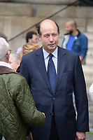 Louis Giscard d'Estaing - Hommage à Gonzague Saint Bris en l'église Saint-Sulpice à Paris, France - 28/9/2017