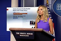 White House Press Secretary Kayleigh McEnany speaks during a press briefing at the White House in Washington, DC on May 28, 2020.<br /> Credit: Yuri Gripas / Pool via CNP/AdMedia