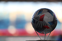 SAN JOSE, CA - MAY 12: MLS soccer ball before a game between Seattle Sounders FC and San Jose Earthquakes at PayPal Park on May 12, 2021 in San Jose, California.