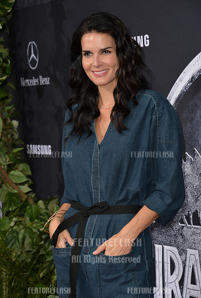"""Angie Harmon at the world premiere of """"Jurassic World"""" at the Dolby Theatre, Hollywood.<br /> June 10, 2015  Los Angeles, CA<br /> Picture: Paul Smith / Featureflash"""