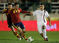 Spain's Koke (l) and Norway's Singh during international sub21 match.March 21,2013. (ALTERPHOTOS/Acero) /NortePhoto