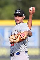 Matt Olson #21 of the Stockton Ports during a game against the Visalia Rawhide at Rawhide Ballpark on May 5, 2014 in Visalia California. Visalia defeated Stockton, 8-6. (Larry Goren/Four Seam Images)