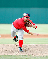 Cam Bedrosian - AZL Angels - 2010 Arizona League. Bedrosian, one of the Angels 1st round draft picks, pitches against the Dodgers in his first professional game, at Tempe Diablo Stadium, Tempe, AZ - 07/15/2010.Photo by:  Bill Mitchell/Four Seam Images..